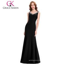 Grace Karin Sexy Vestido de noche sin mangas de la sirena de los vestidos de las mujeres largas CL6061-1 #