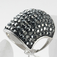 New fashion jewelry large finger ring for women and men rhinestone big band rings