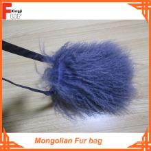 Mongolische Lammfelltasche