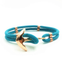 Stainless Steel Jangkar Cotton Nylon Cord Bracelet