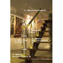 Cristal Glass Haute qualité Main courante