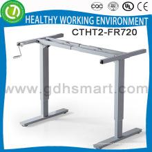 Base de table de hauteur de contrôle manuel