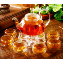 Ensemble de thé en verre de design magnifique Ustensiles de cuisine Pot en verre avec filtre