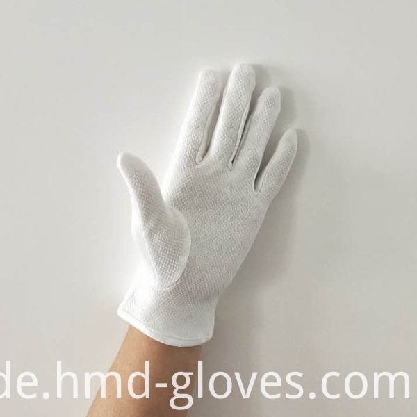 Gripper Dots Gloves For Waiters Palm