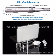 Auto rechargeable microneedle therapy system medical derma micro pen