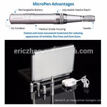Auto recarregável microneedle terapia sistema médico derma micro caneta