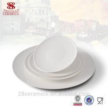 Juego de cena real, plato de cerámica blanco, proveedor de porcelana vajilla porcelana