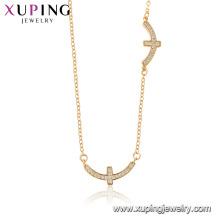 44520 xuping 18 Karat Gold Farbe Großhandel Mode Religion Kreuz Halskette