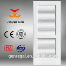 Solid wood white louvered doors