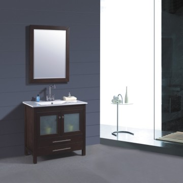 Solid Wood Bathroom Furniture (B-249)