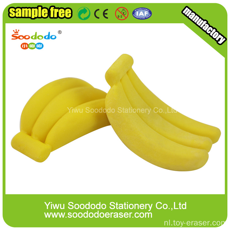 Banana Shaped Eraser, cartoon gummen voor kantoor