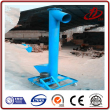 Vertical and shaftless screw conveyor for silo cement