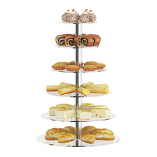 Plastic Rotating Wedding Clear Acrylic Cupcake Stand Transparent Cake Stand Cake Tools Cake Decorating Accessories Square 50 Pcs
