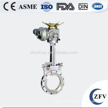 DN50 puissance actionné valve de boue en forme de couteau