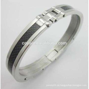 Armband-Armband der Art und Weise Carter-Carbon-Edelstahl-Männer