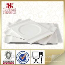 Venta caliente blanco 12.25 pulgadas plato de porción de china de hueso, cena de porcelana de polonia