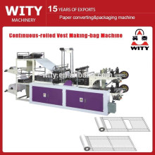 Control de microordenador de alta velocidad laminado en continuo bolso de la bolsa que hace la máquina