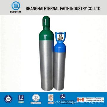 2014 High Pressure Seamless Aluminum Oxygen Gas Cylinder (LWH180-10-15)