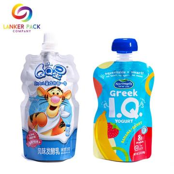 Makanan Grade Leakproof Baby Food Pouch Dengan Spout