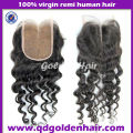 Cheap Price Good Quality 100% Virgin Top Silk Base Closure Freestyle Parting