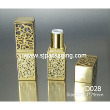 square luxury gold lipstick tube