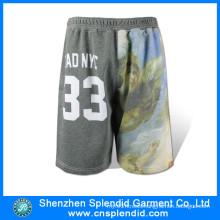 Wholesale Mens Sublimation Basketball Gym Fleece Shorts