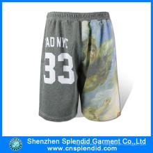 Atacado Gym Vestuário Mens Fleece Elegante Sublimation Golf Shorts