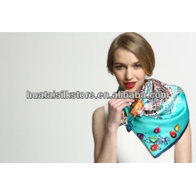 China wholesale high quality 100 silk satin scarf