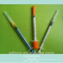 Disposable 1Ml Syringe With Needle