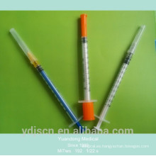 Jeringa desechable de 1 ml con aguja
