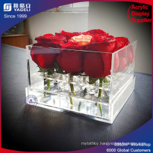 High Grade Acrylic 3 Tier Flower Container Rose Box