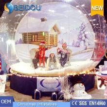 Hotsale Christmas Photo Снежный глобус человека Гигантский надувной купол снега