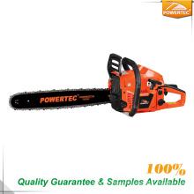 A gasolina de Powertec utiliza ferramentas a serra de cadeia do cortador de madeira 2.2kw