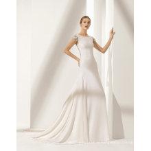 Neue schwere Perlen handgefertigte Blumen zurück Meerjungfrau Hochzeitskleid
