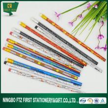 Couleur en crayon en bois aiguisé de 7 pouces