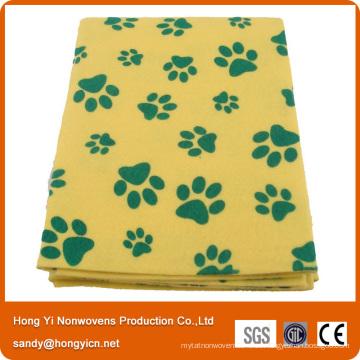 Toalla de limpieza no tejida perforada aguja de la limpieza del animal doméstico de la tela con mejores ventas