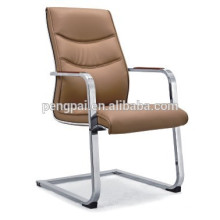 PU leather office chair with chrom base /visitor chair for reception