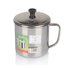 Venta de la mejor taza de acero inoxidable del diseño 8-13cm 6PCS con la tapa