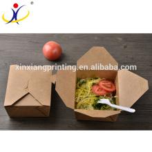 A massa descartável impressa costume leva embora a lancheira da caixa do macarronete das caixas do alimento
