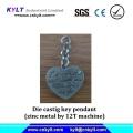Zinco Metal Die Castig chave pingente