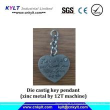 Pendentif clé en métal Zinc Metal Die Castig