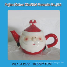 Elegant santa claus shape ceramic tea pot