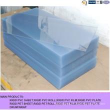 Feuille de PVC transparente pour le cintrage à chaud ou à froid,