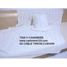 Cashmere Throw Cushion Big Cable
