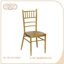 banquete de jardim chiavari cadeiras de bambu de ouro, cadeiras de bambu de metal