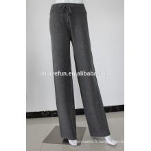 12gg femmes tricotées pur pantalons de cordon de cachemire