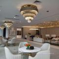 Современный и роскошный Золотой круглый Кулон освещение с отелем