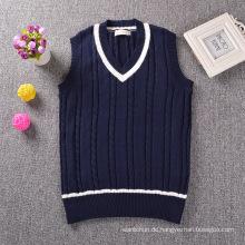 100% Baumwolle V-Ausschnitt gestrickt Schule tragen japanischen High School Uniform Pullover