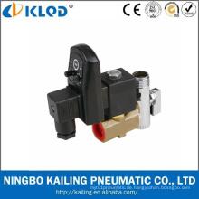 Klpt Serie Messing Material automatische Ablauf Magnetventil 24V