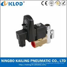 Válvula solenóide automática de bronze 24V do dreno da série de Klpt